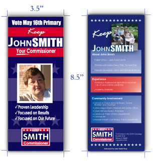 Win Your Campaign With Effective Campaign Palm Cards Brochure - Political campaign brochure template